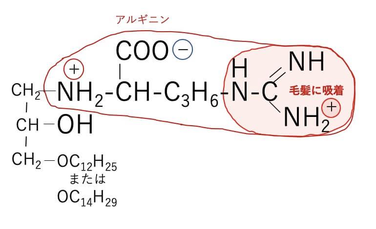 アルキル(C12 14)オキシヒドロキシプロピルアルギニンHCIの構造