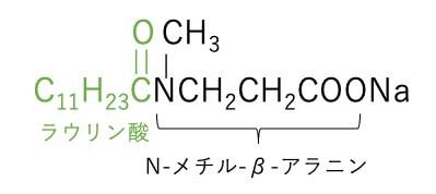 ラウロイルメチルアラニンNa 構造式