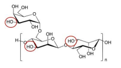 グアーヒドロキシプロピルトリモニウムクロリドの構造式