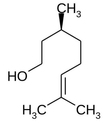 lシトロネロールの構造